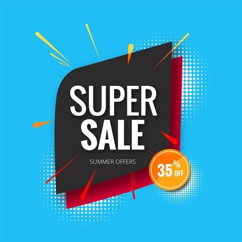 super sale banner sale poster banner template background illust