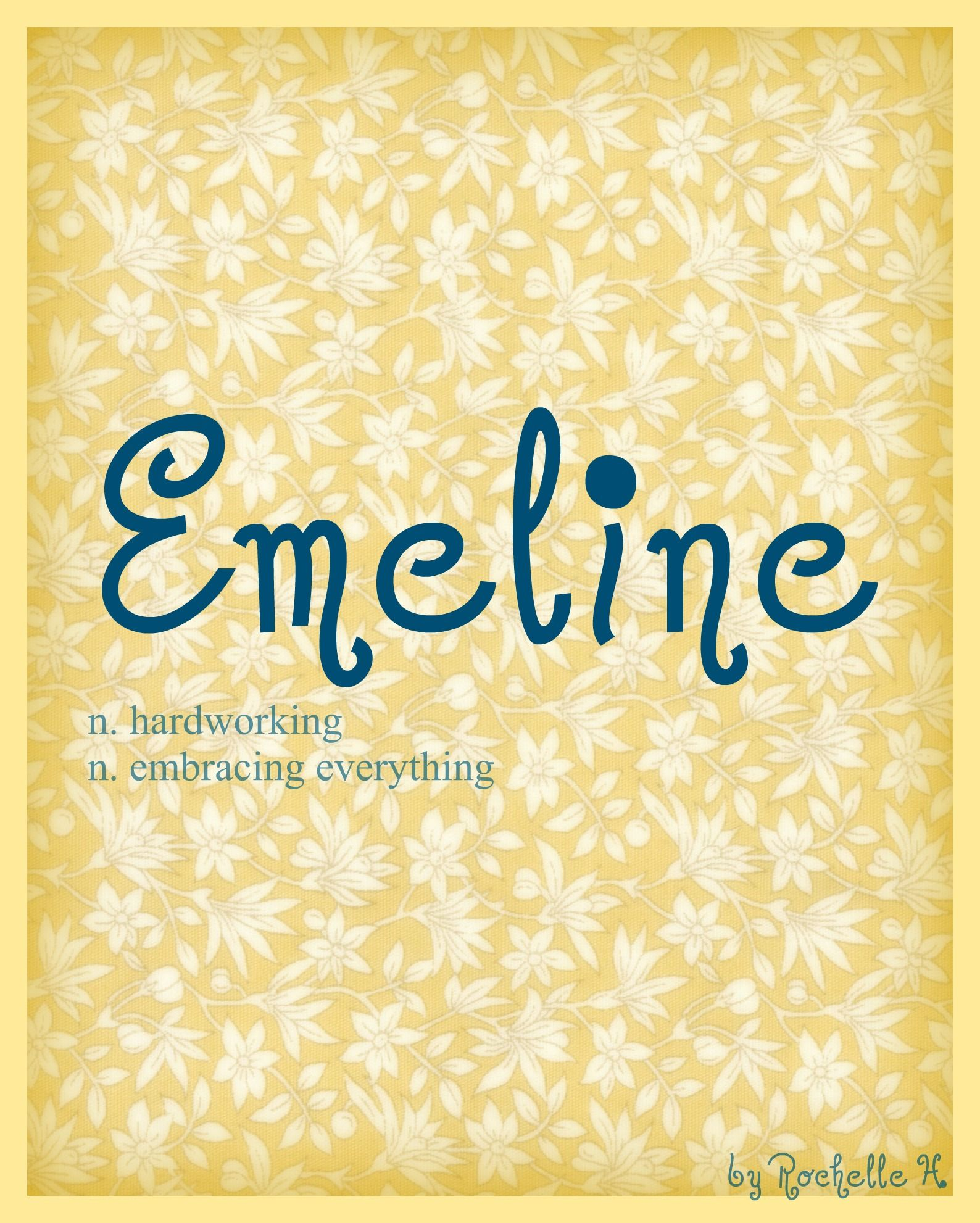 Meaning of name blanche - Girl Name Emeline Meaning Hardworking Embracing Everything Origin French