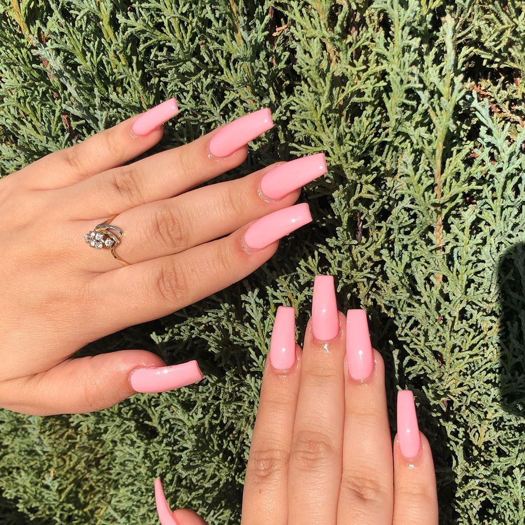 F A T E Bioseaweedgel Bsgfate Pinknails Bubblegumpink Lightpinknails Lasvegas Lasvegasnails 702na Light Pink Nails Pink Nails Las Vegas Nails