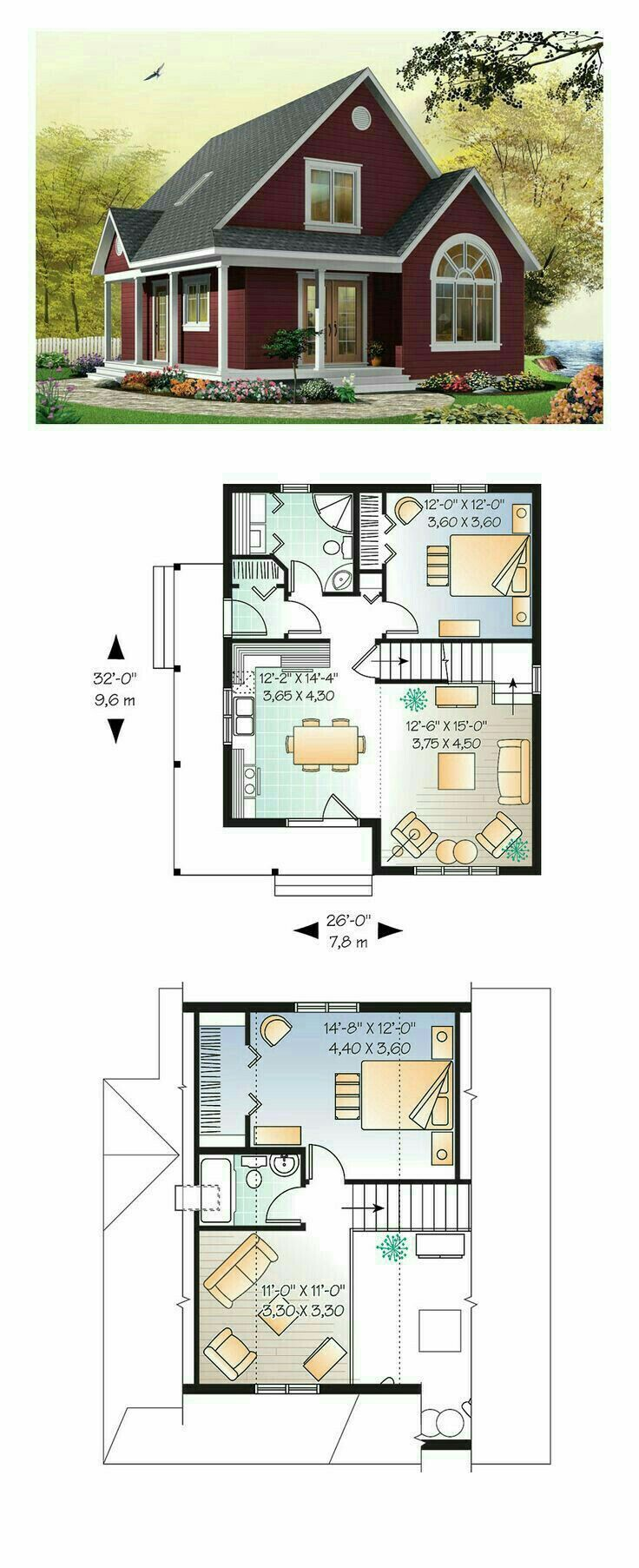Plan Of A Small Two Story House Country Style House Plans House Plans Best House Plans