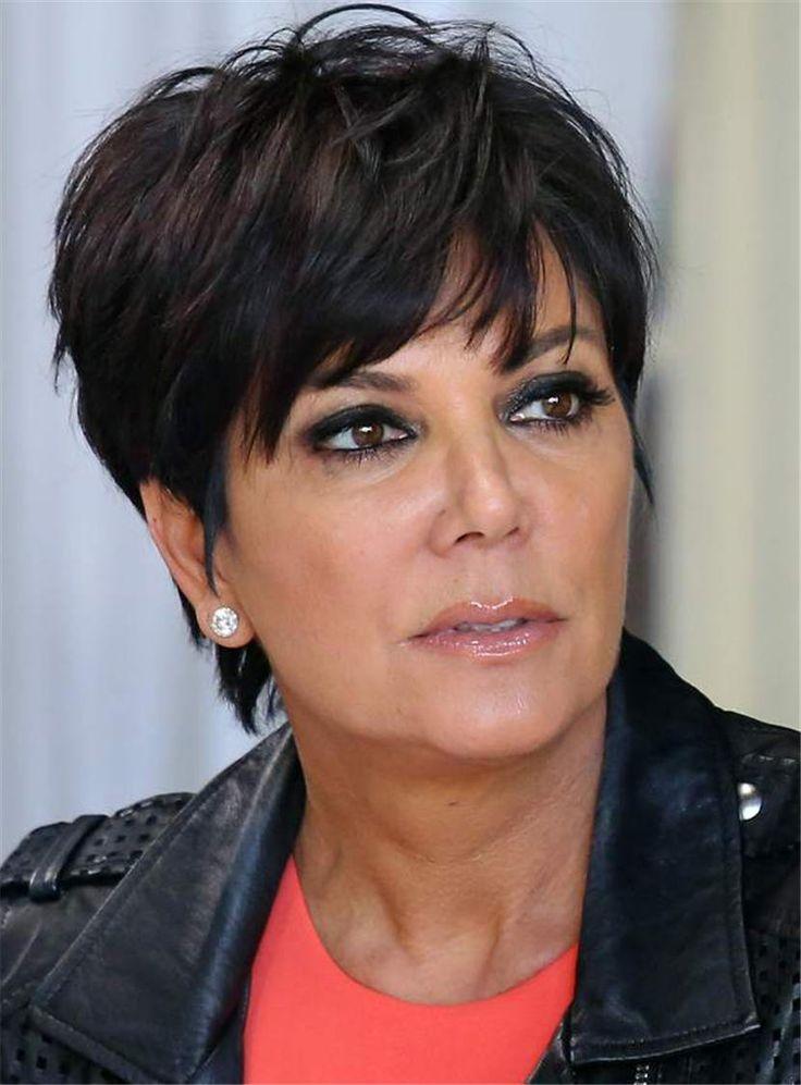 Kris Jenner Kurze, gerade geschnittene Perücken für ältere ...
