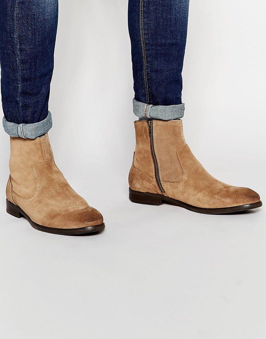 Hudson+London+Plant+Suede+Zip+Boots | London, Boots, Asos
