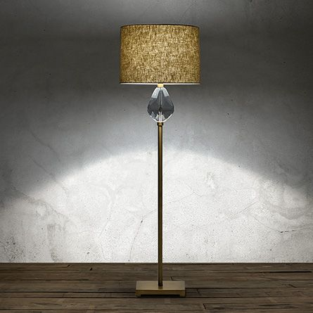 Lola teardrop floor lamp with natural shade in brass floor lamp lola teardrop floor lamp with natural shade in brass aloadofball Gallery
