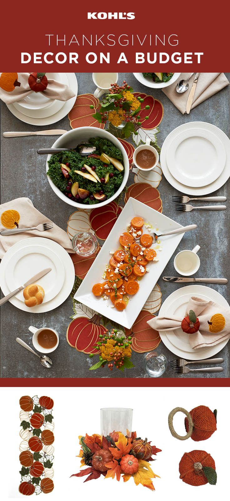 This year we're thankful for beautiful tablescaping that doesn't break the b…
