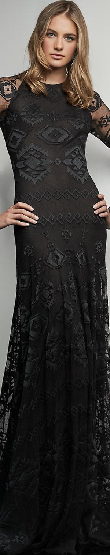 Ralph Lauren Mariella Embroidered Gown