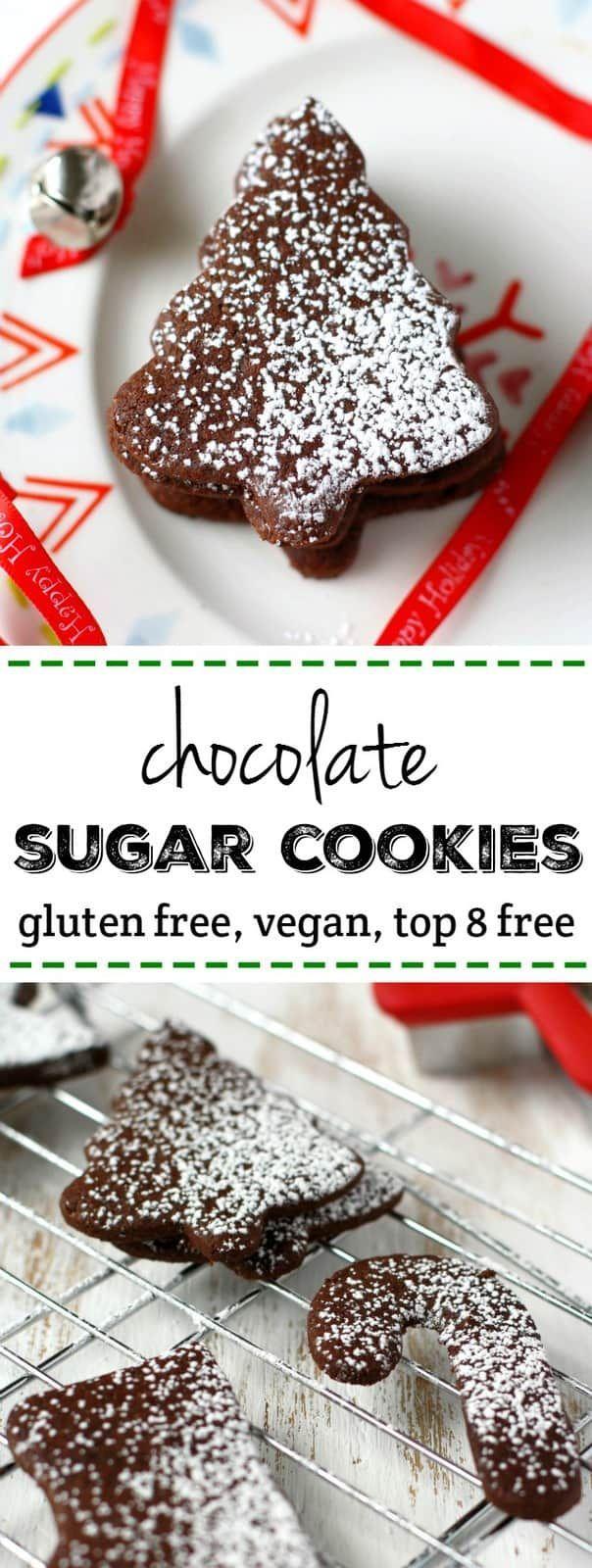 Chocolate Sugar Cookies (Gluten Free, Vegan)