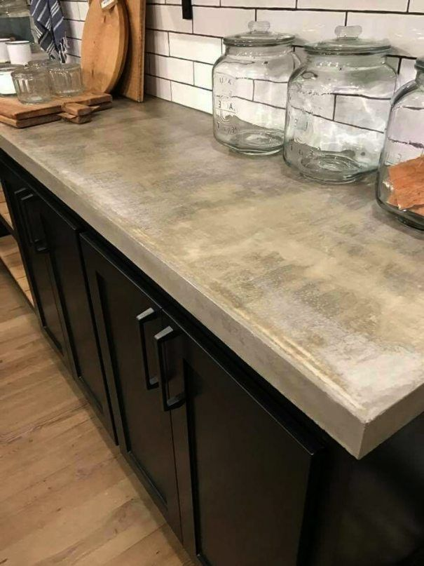countertops image by Alison Bolz | Black kitchen cabinets ...