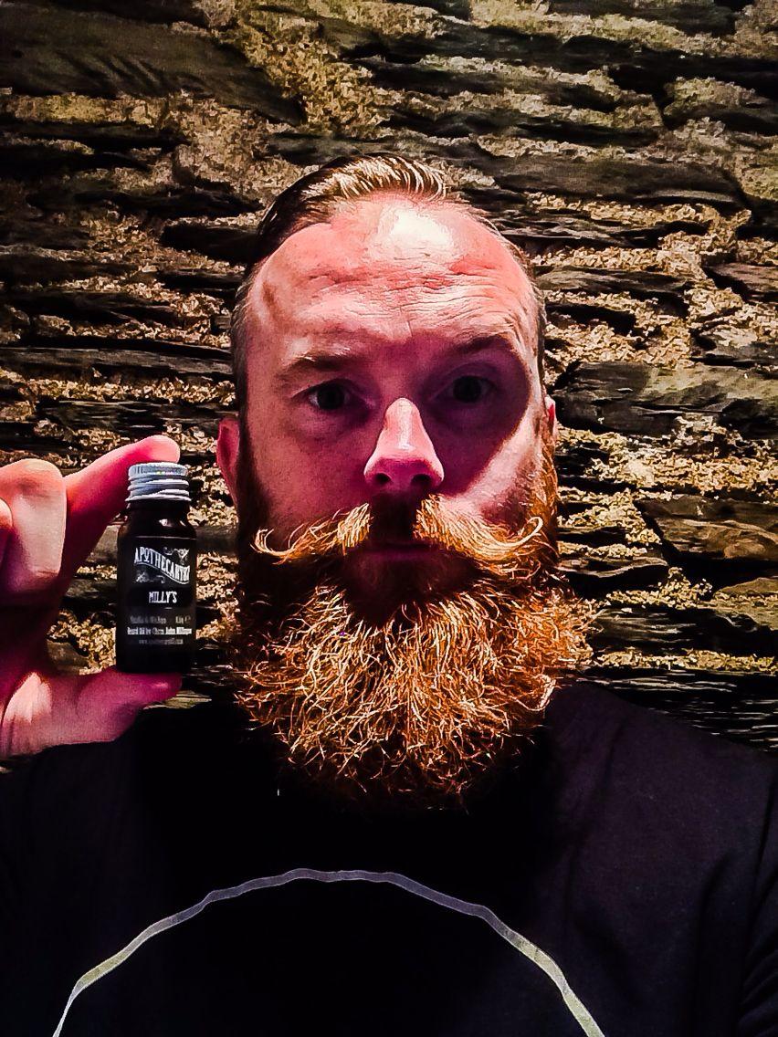 Millys Mango & Vanilla beard oil by Apothecary 87...smells immense!