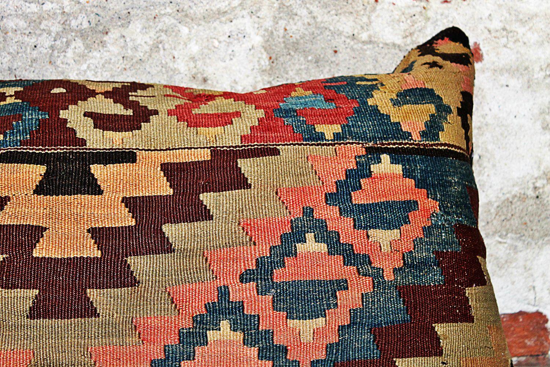 falling in love….Caucasian Shirvan Kilim Cushion  kelim kussen 40 x 70 cm