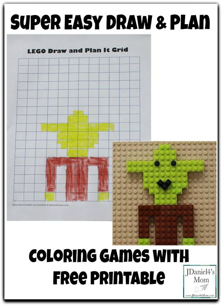 Super Easy Draw and Plan Coloring Games with Free Printable | Lego ...