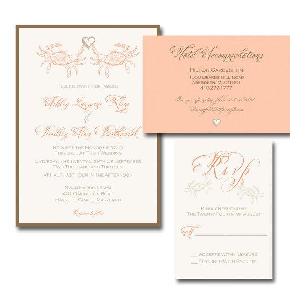 Crab Love Wedding Invitation 30 Suites By Jessicastrayerdesign 135 00 Wedding Invitations Plan My Wedding Wedding