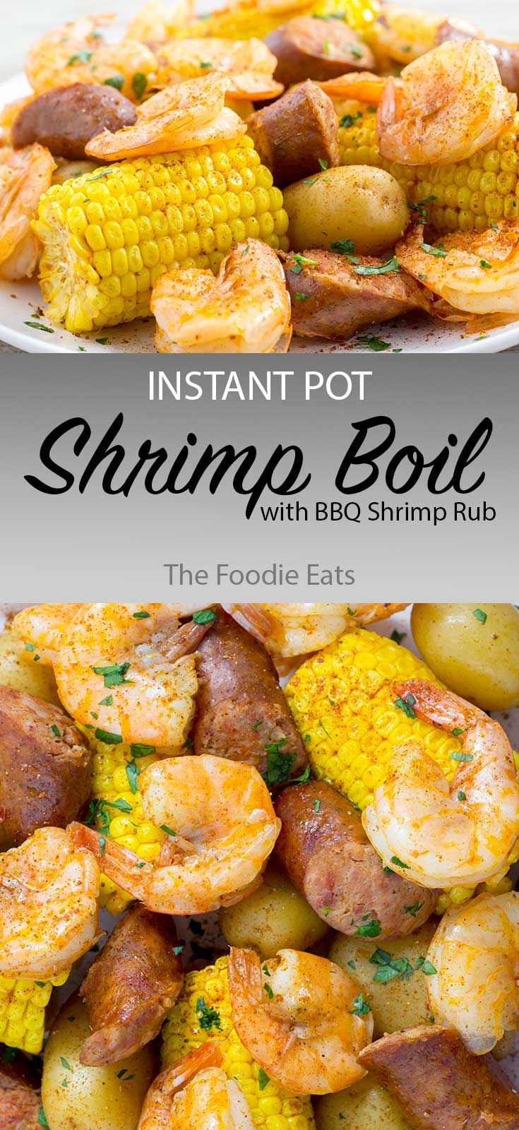 Instant Pot Shrimp Boil with BBQ Shrimp Rub images