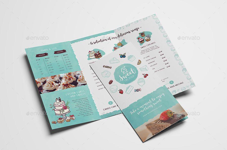 Cake Shop Tri Fold Brochure Template Ad Tri Sponsored Shop Cake Template Trifold Brochure Template Trifold Brochure Brochure Template