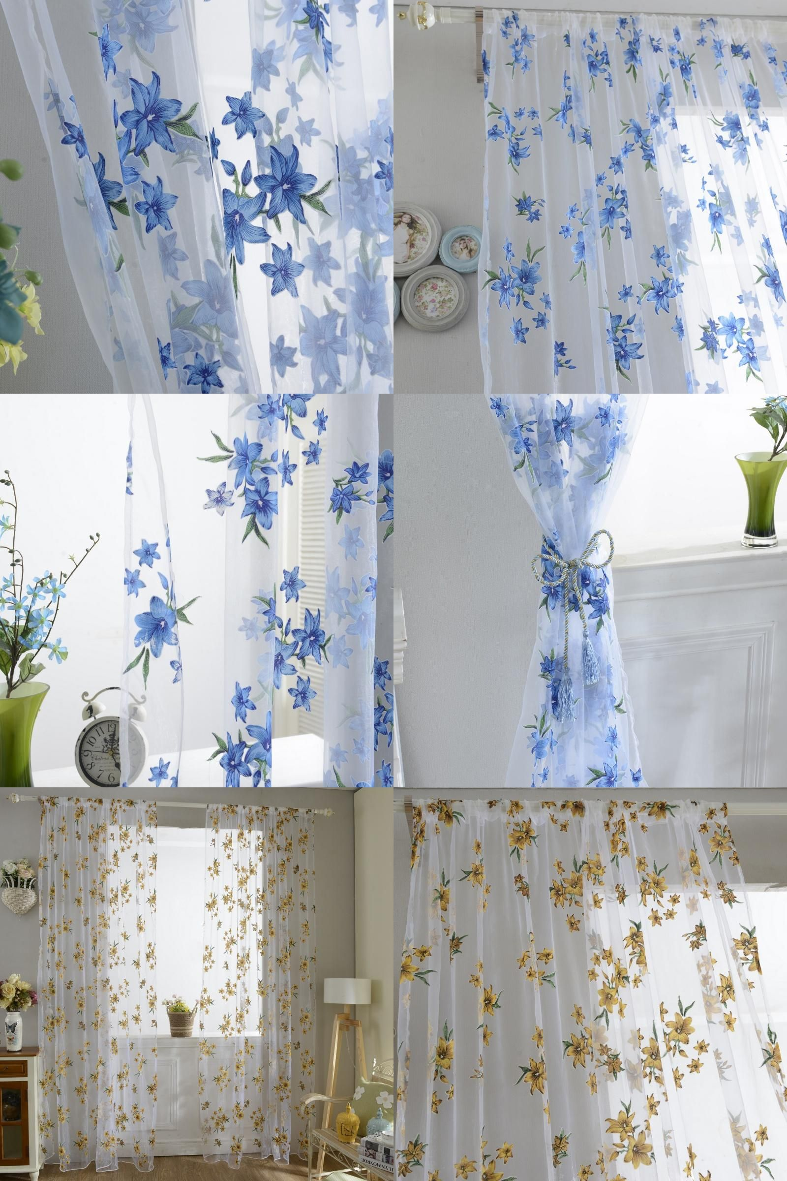 Window top decor  visit to buy xm sweet new sheer tap top curtain window living