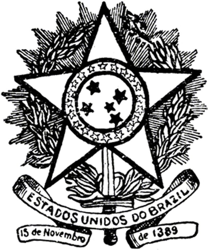 Coat of arms of Brazil, 1889-1968.