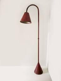 Vintage Leather Floor Lamp by Jacques Adnet, 1950s | Floor