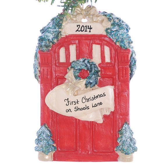 Christmas Ornament - Personalized ornament red door for a family