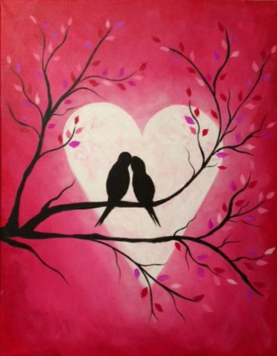 Love Birds Painting Google Search Wall Pieces Paintings Love