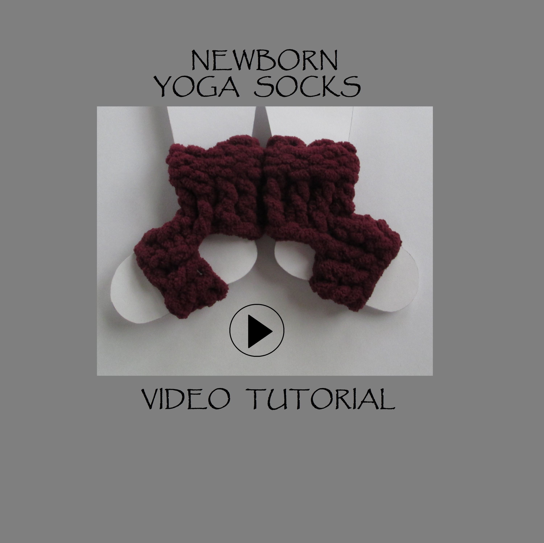 Newborn Yoga Socks Tutorial Video for Spool Loom - 8 Peg Loom ...