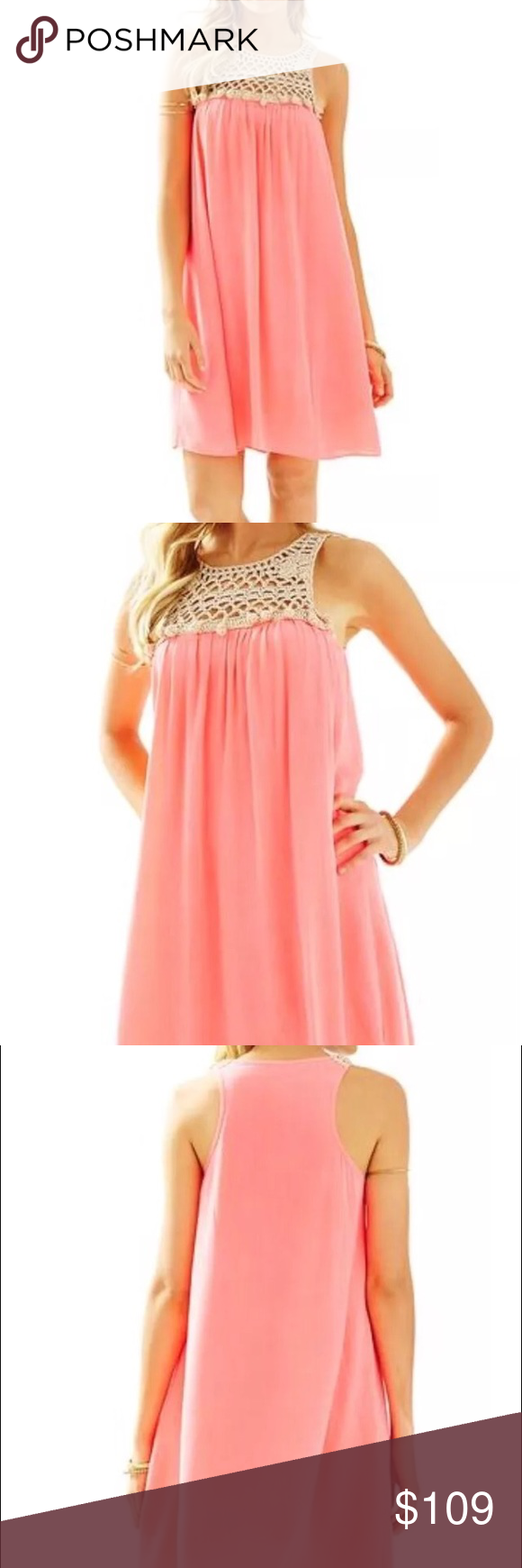 Nwt rachelle dress pink sun ray lilly pulitzer guaranteed new with