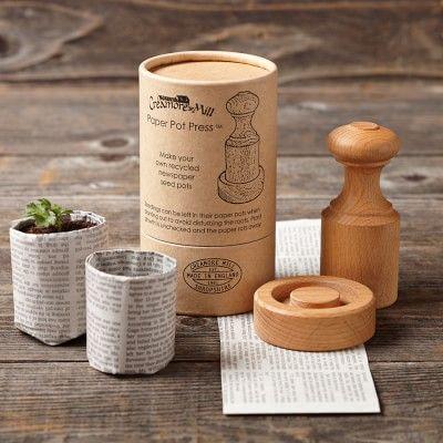 Wooden Paper Pot Press #williamssonoma   QTY 2