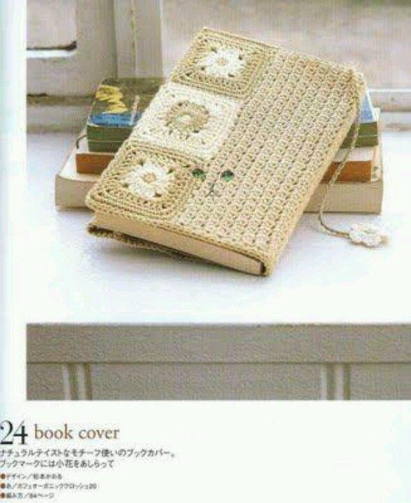Cubierta de libro | Manualidades o labores en crochet | Pinterest ...