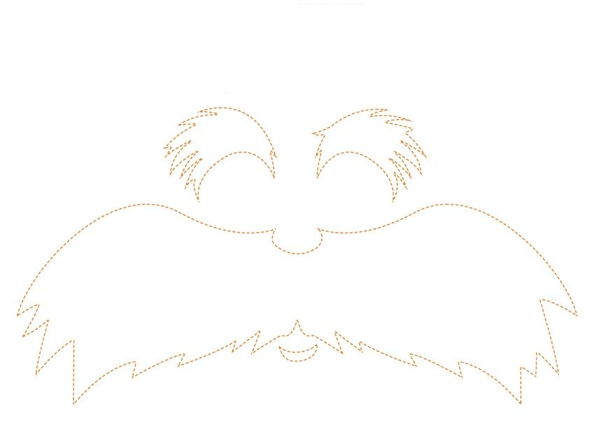 image about Lorax Template Printable known as The Lorax Eyebrow Template - Free of charge Down load