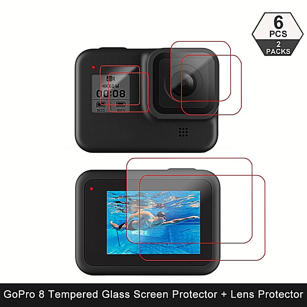 Tempered Glass Screen Protector For Gopro Hero 8 Black Lens Protection Film Unbranded In 2020 Water Proof Case Camera Cover Protective Cases