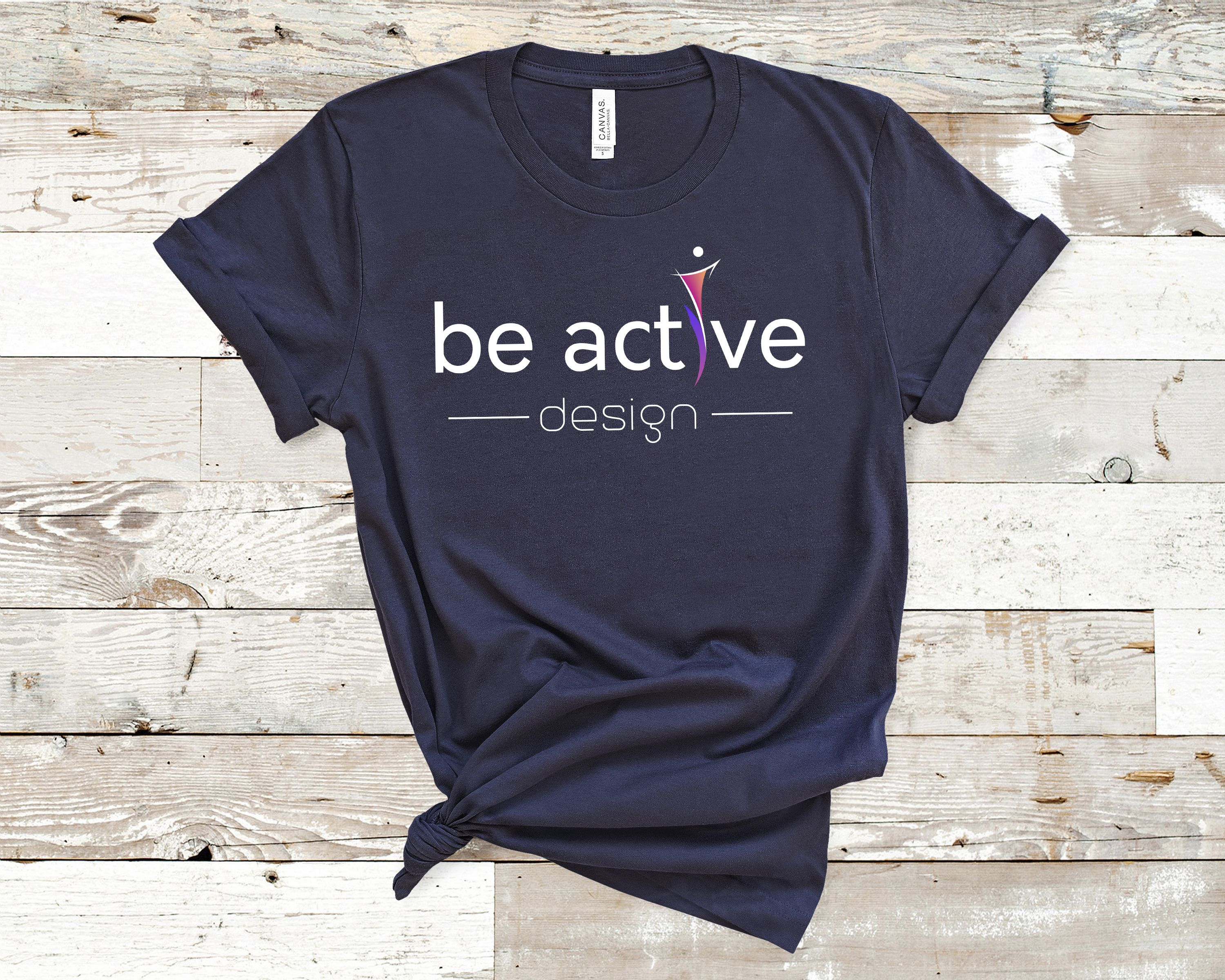Be active design workout shirt sport tee funny gym tshirt