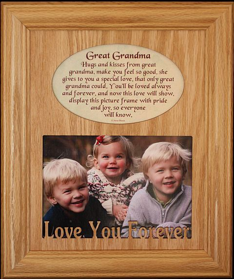 great grandma laser photo poetry frame holds a landscape picture gift for great grandma read more home decor at the image link