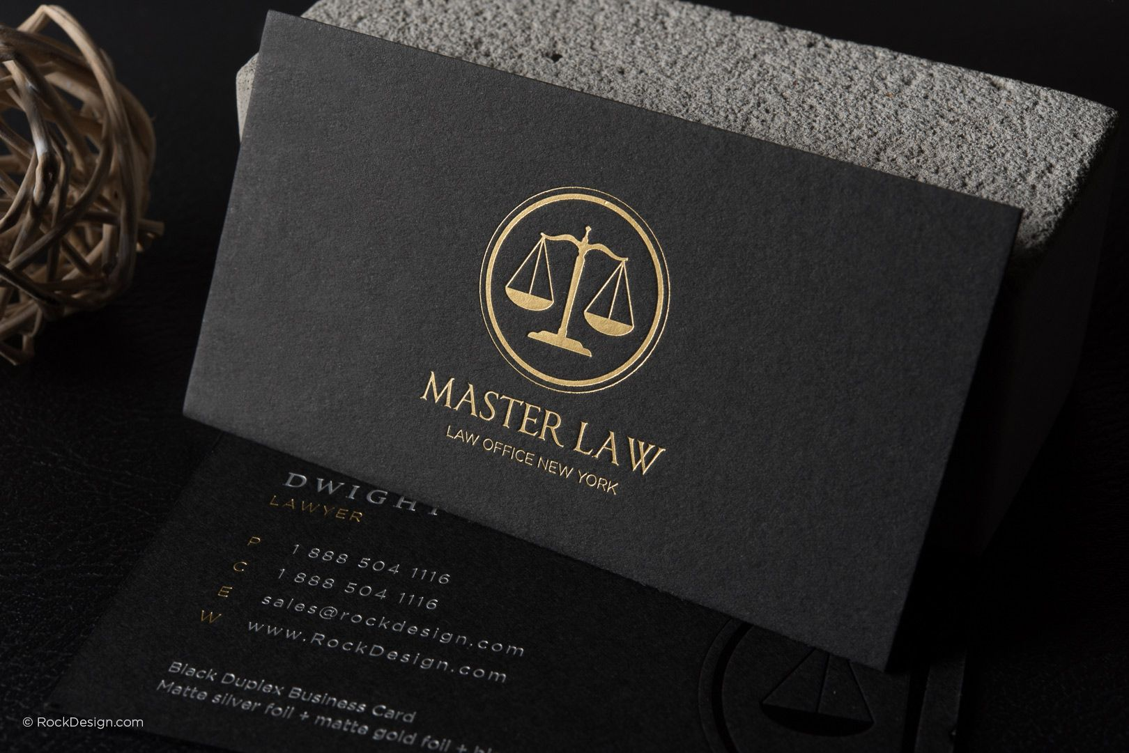 Classic Modern Black Duplex Attorney Business Card Template Master Law Rockdesign Lawyer Business Card Free Business Card Templates Attorney Business Cards