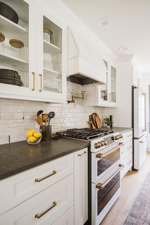 Should I Paint My Kitchen Cabinets Pros Vs Cons In 2020 Kitchen Cabinets White Cabinets Black Countertops Shaker Kitchen Cabinets