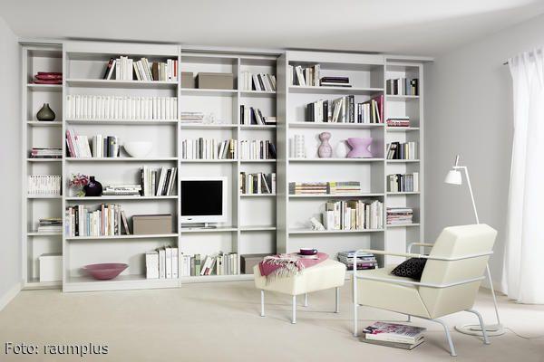 b cherregal zum verschieben einrichtung pinterest verschoben fernseher und wandregal. Black Bedroom Furniture Sets. Home Design Ideas