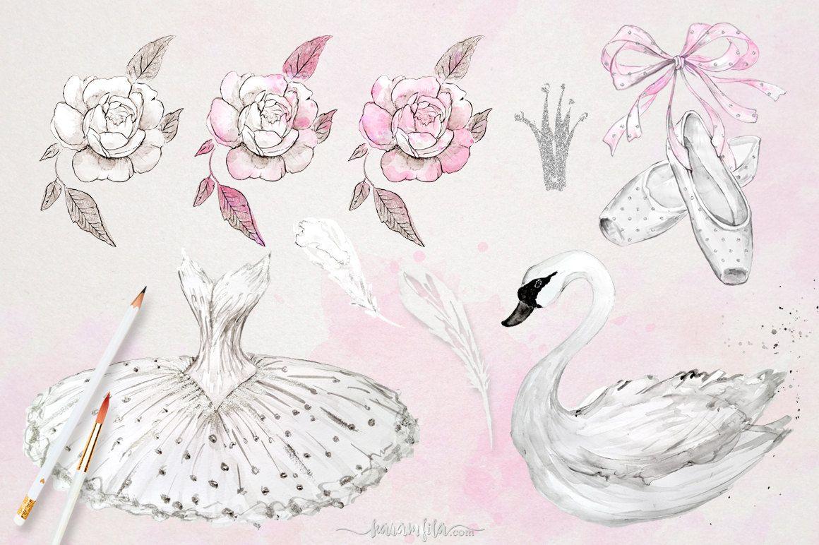Swan Lake Clipart Ballet Clipart Waterco...