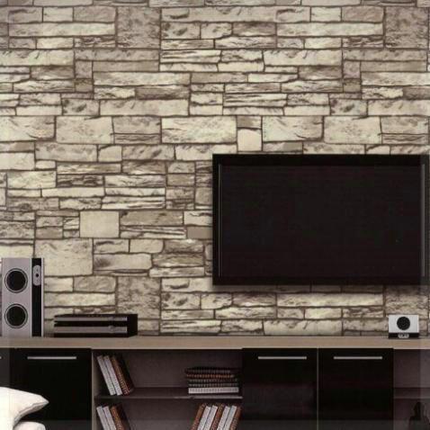 Online Shop 10m Stone Wall Textured Feature 3d Wallpaper Roll Tv Background Papel De Parede Vintage Stone Brick Wall Paper 3d Home De Dinding Bata Dinding Bata