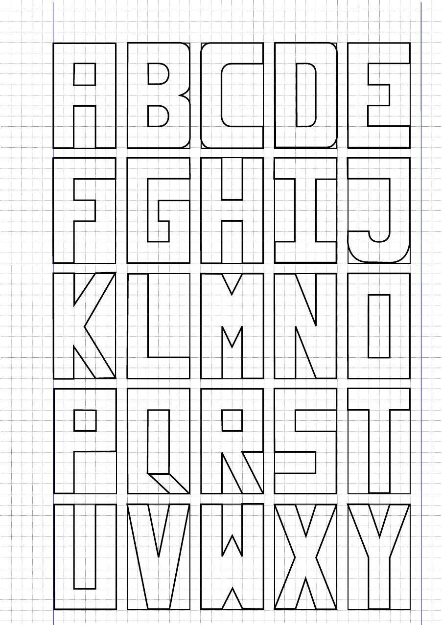 Letras Na Caixa Em Papel Quadriculado | To do | Pinterest ...