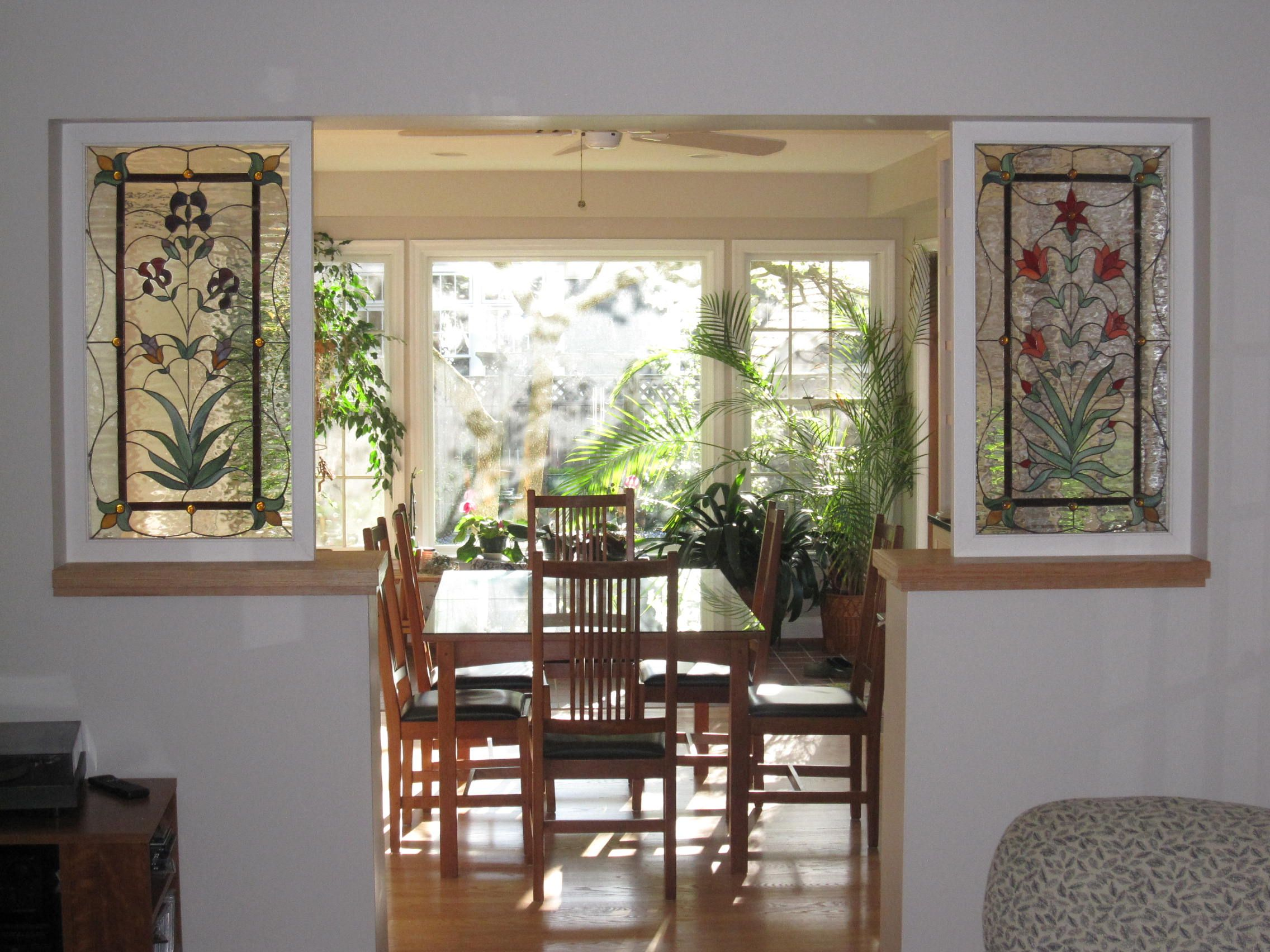 interior stained glass window | Stained glass Interior room dividers ...