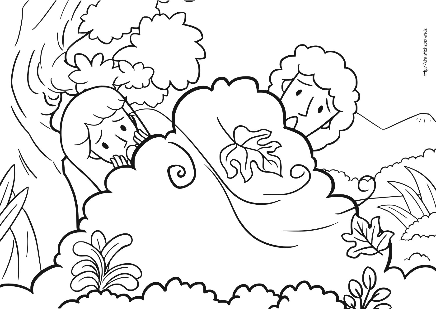 Adam und Eva ausmalen \ Adam and Eve Coloring Pages