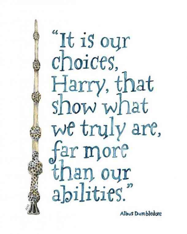 Image result for harry potter quotes it is our choices