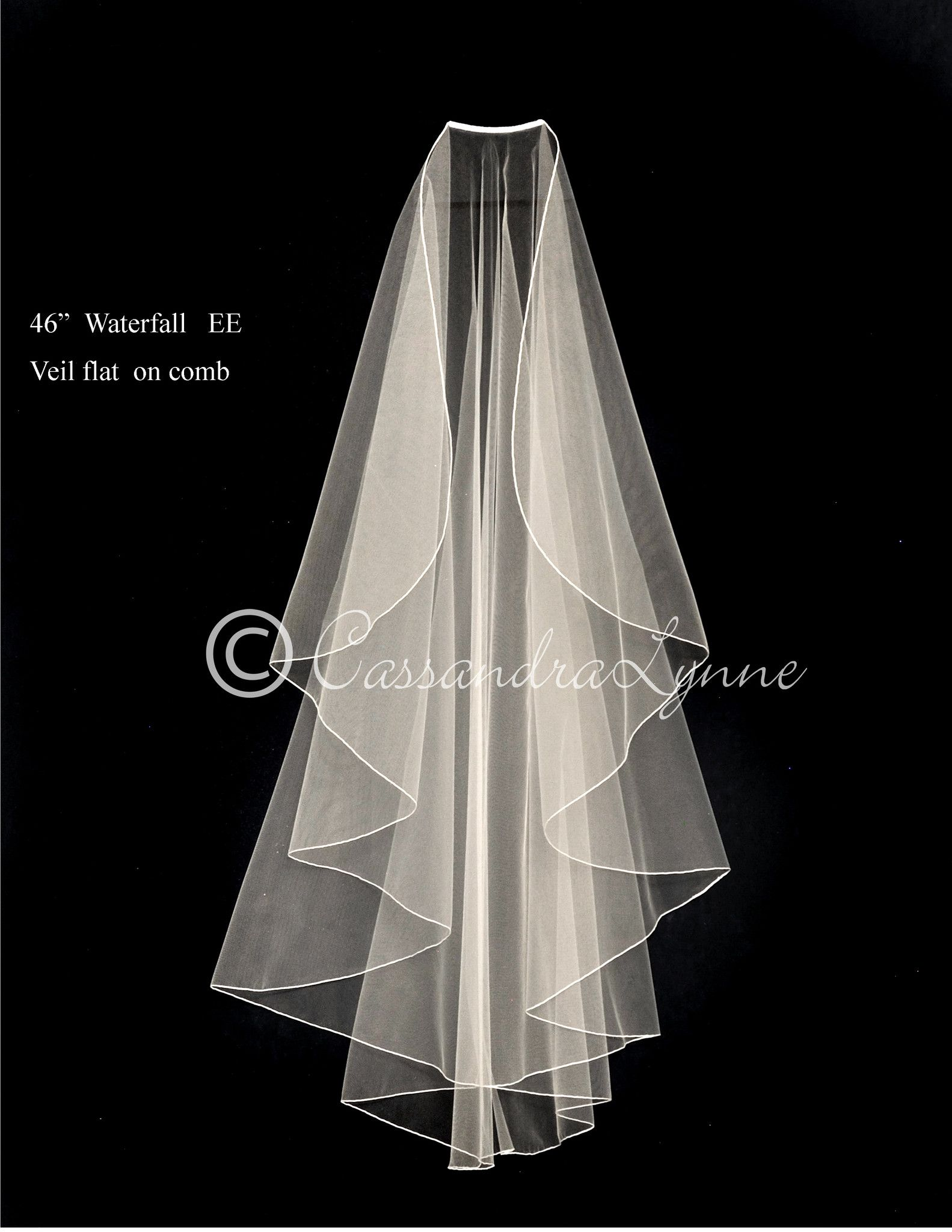"""Wedding Veil Elbow Single Tier 28/"""" Length Organza Ribbon many colors made in USA"""