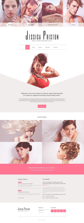 Hair Stylist Website Template Makeup Artist Website Beauty Website Artist Websites