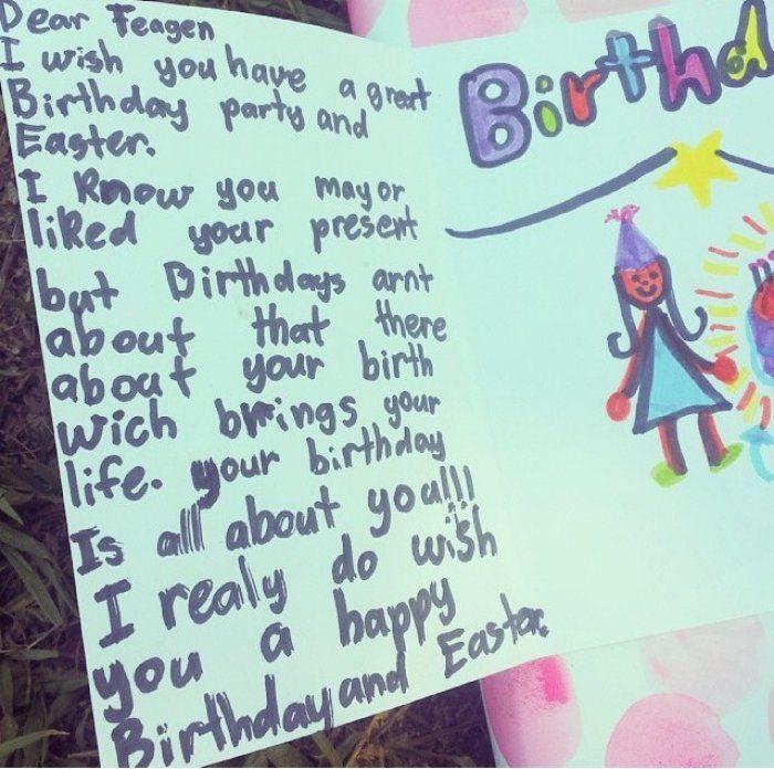 How To Write A Birthday Card My Birthday Pinterest Kids