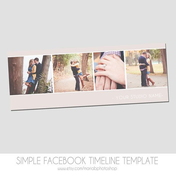 Instant Download  Simple Facebook Timeline Cover Templates