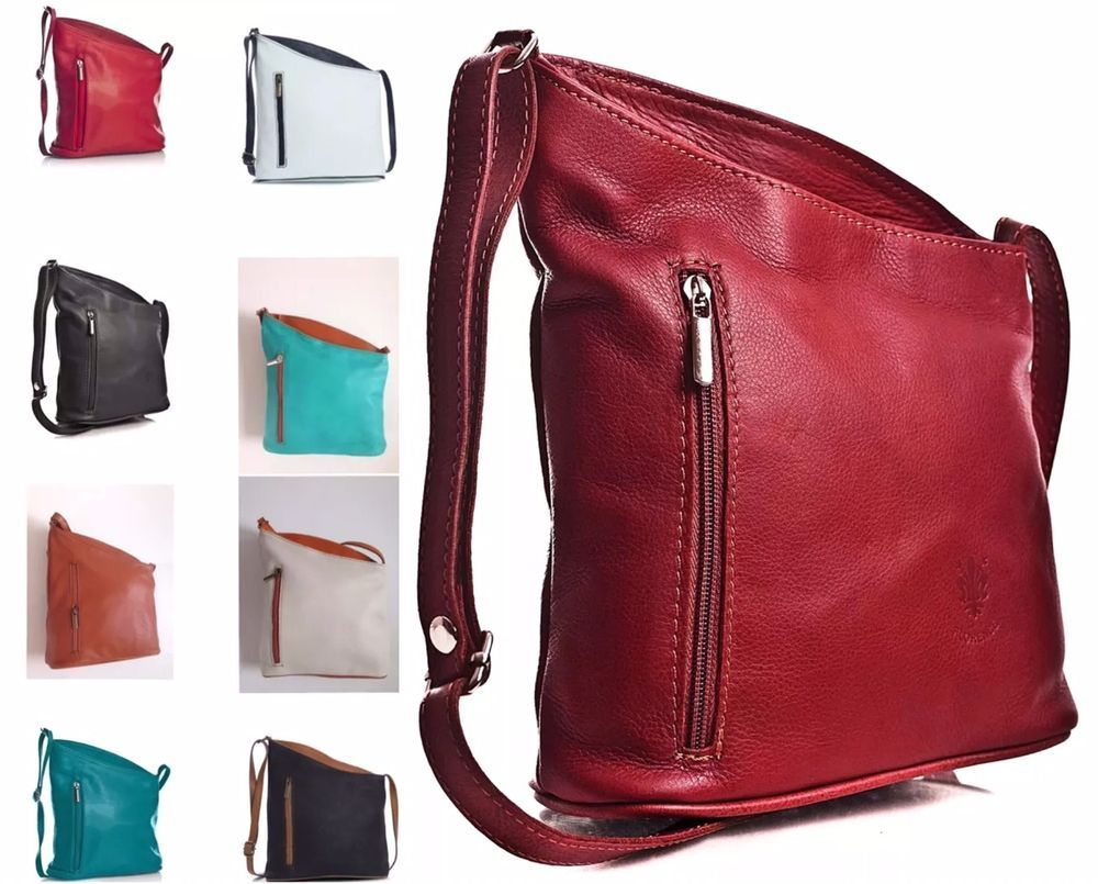 51c1875eac New Genuine Soft Italian Leather Cross Body Bag Ladies Venenzi Messenger  Bag in Clothes