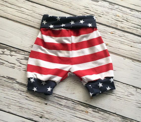 Baby Shorties American Babe Print  Stars and Stripes
