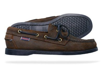 Sebago Docksides Womens Leather Boat Shoes - Dark Brown Sebago ...