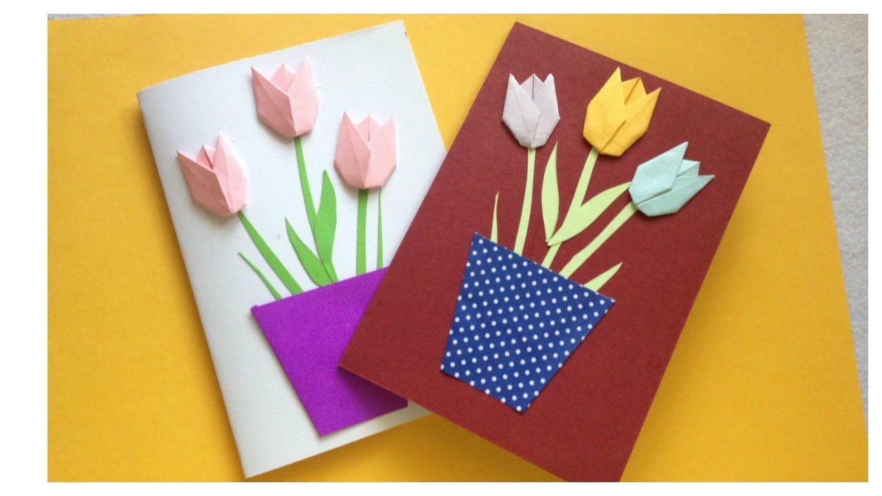 Greeting Card Tutorial Happy Birthday Card Flower Card Template