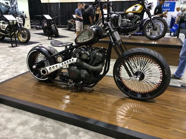 This awesome lucky 13 bobber is based on a star bolt by for Yamaha bolt bobber