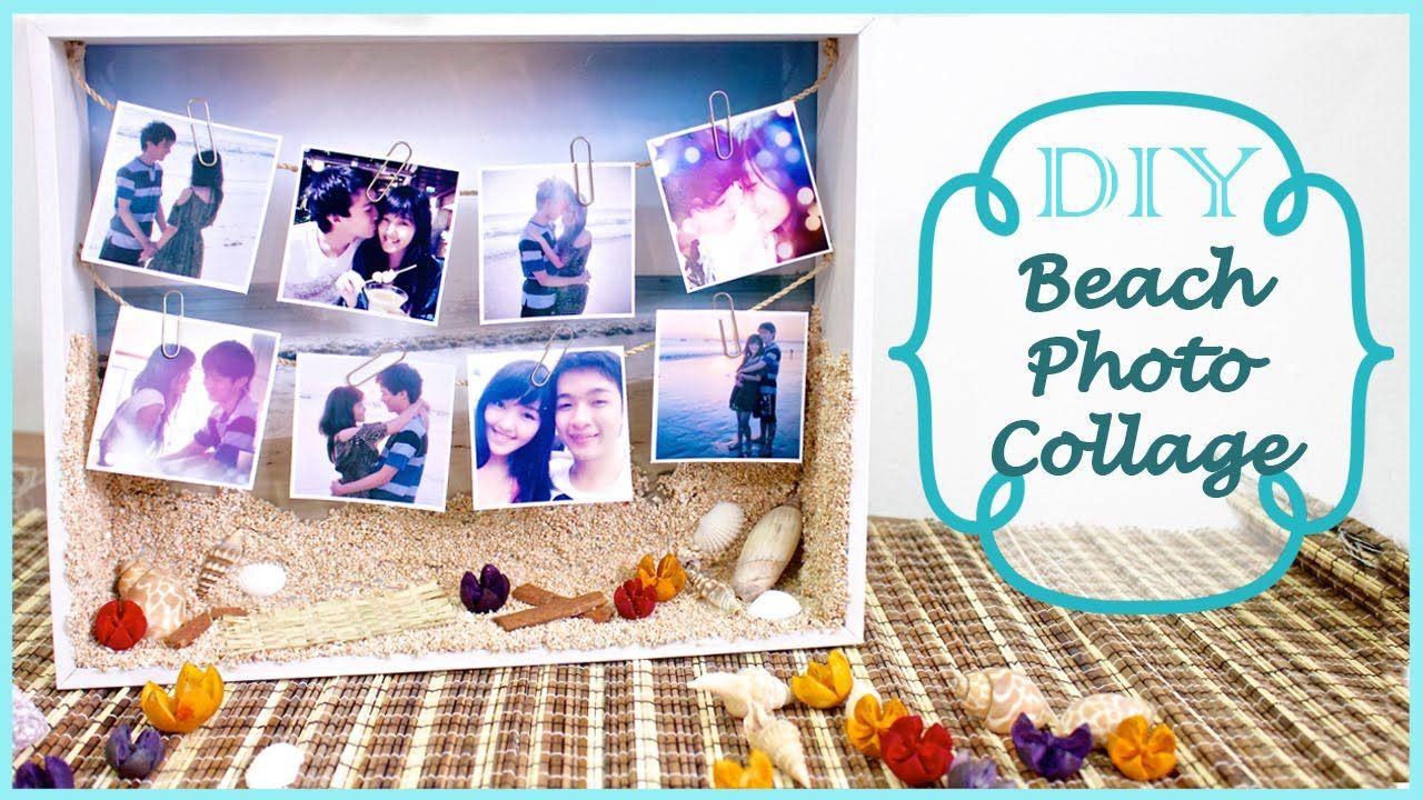 Diy Beach Photo Collage Summer Gift Idea Crafts Pinterest