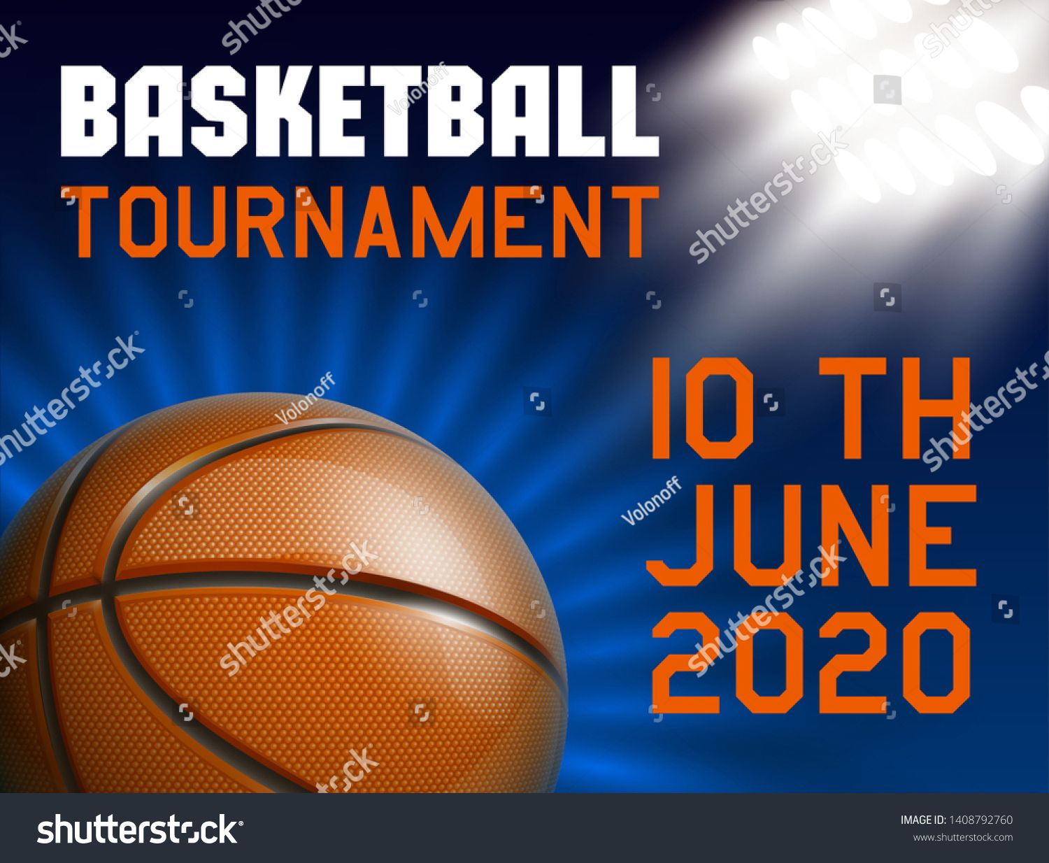 Basketball Modern Sports Poster Design Banner With 3d Realistic Shiny Ball Basketball Tournament Illustration B Sport Poster Design Banner Design Sport Poster